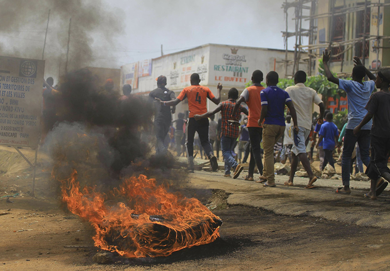 Protests as DRC leader warns of Ebola vote 'disaster'
