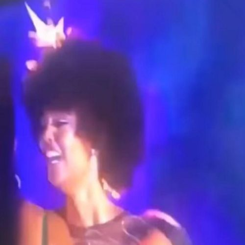 WATCH: Miss Africa 2018's hair catches fire seconds after being announced winner