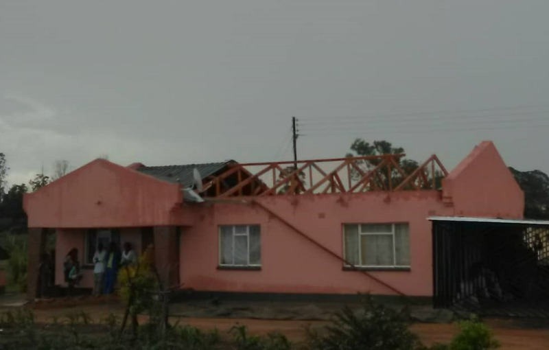 School wrecked by freak storm