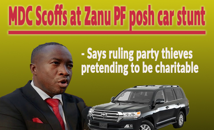 MDC responds to Zanu PF MPs' luxury car 'gimmick'; opposition says ruling party looters not fooling anyone
