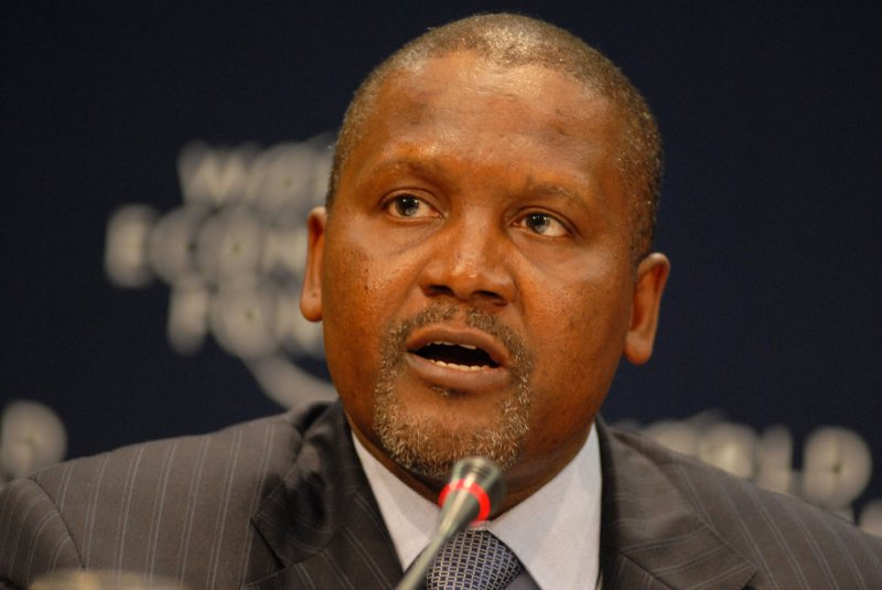 Aliko Dangote withdrew $10m just to look at it