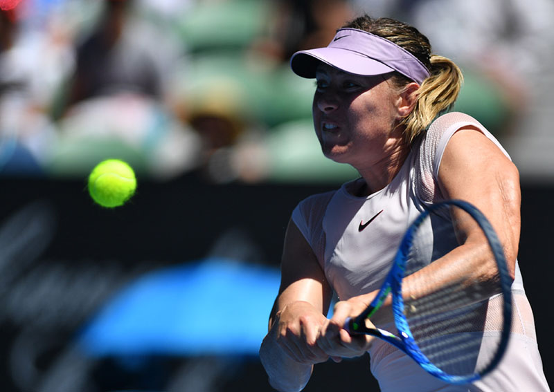Sharapova says passion undimmed as she makes point