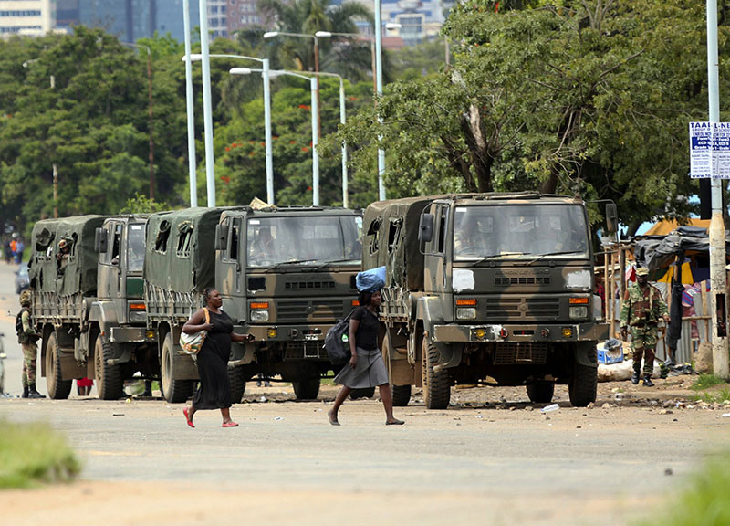 Soldiers continue to patrol streets after deadly protests