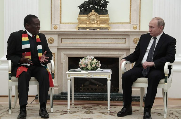 MOSCOW: Mnangagwa says Zimbabwe to Buy 'State-of-The-Art' Russian Arms