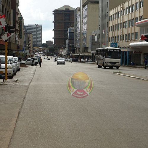 PICTURES: Central Harare on Thursday