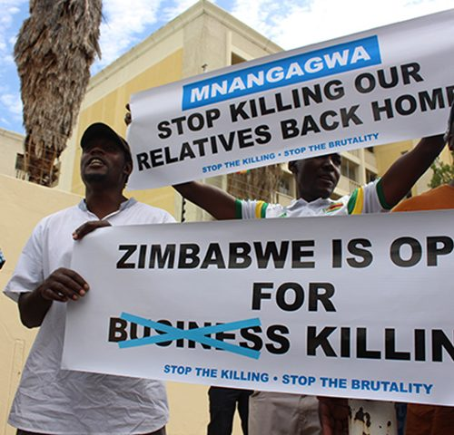 NAMIBIA: Zimbabweans express outrage at crackdown back home