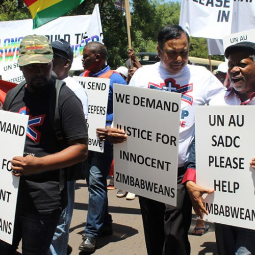 Pretoria CBD marchers demand end to Zimbabwean strife