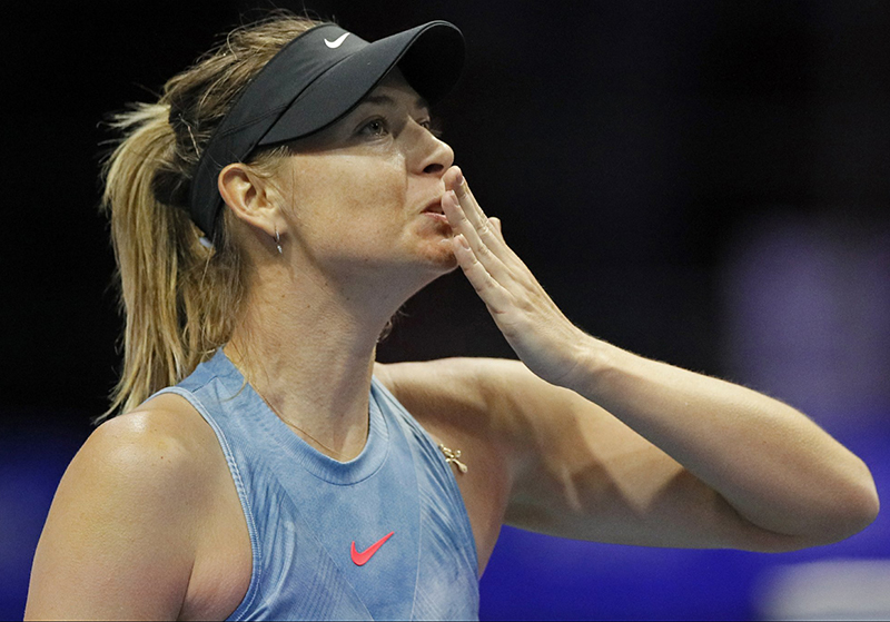 Sharapova earns first WTA match win in Russia in 13 years