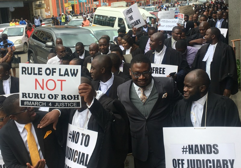 Zim lawyers march demanding return to justice after deadly anti-govt protests
