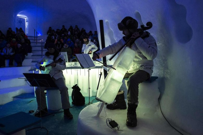 Ice instruments melt musical boundaries in Italian Alps