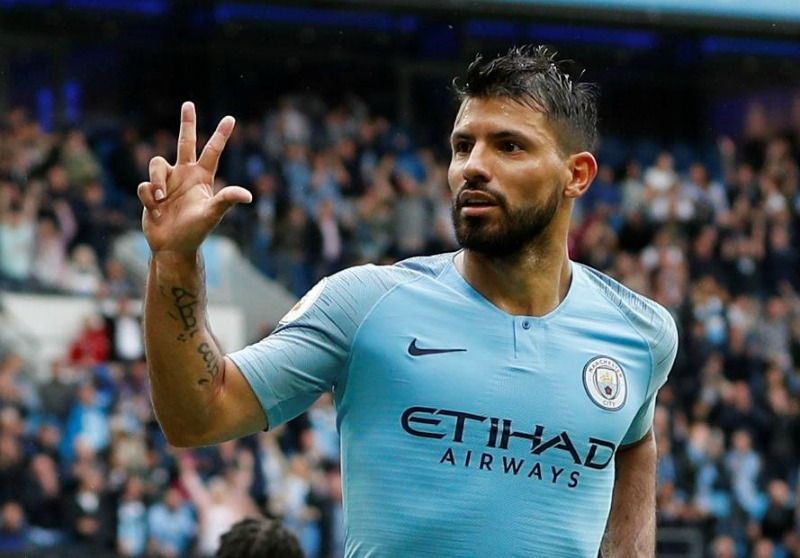 Man City striker Aguero's hat trick sinks Arsenal