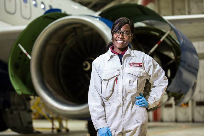The female Zimbabwean British Airways engineer helping inspire other women to fix jets