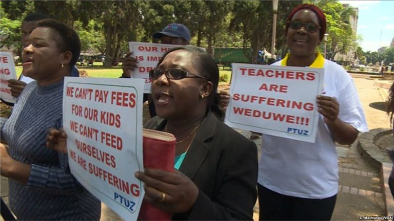 More Zimbabwe teachers join strike, unions say