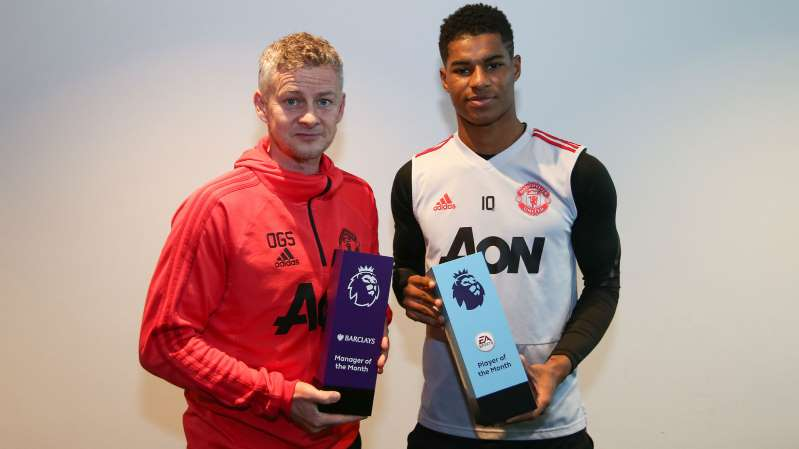 Rashford and Solskjaer take home January Premier League honors