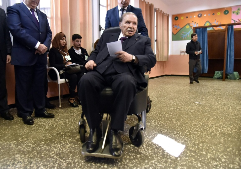 Aged 81 and wheelchair-bound Algeria's president confirms run for 5th term