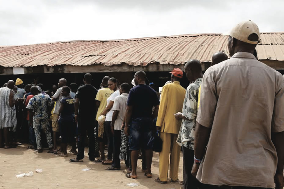 Nigeria police say more than 300 held for voting offences