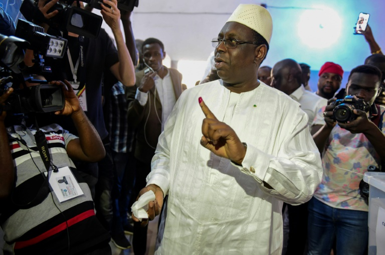 Senegal's Sall wins re-election in first round