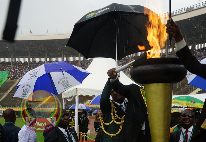 Subdued celebrations, as rains wash away Mnangagwa Independence speech