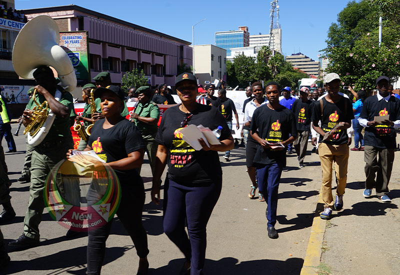 Zimbabwean composers and content producers marched against piracy in Harare