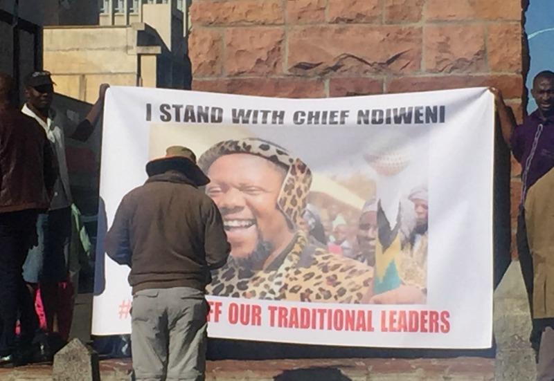 Chief Ndiweni solidarity demo in Bulawayo