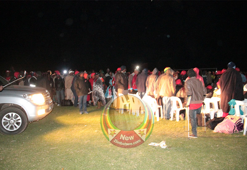 Images: Dark moment for MDC polls amid power cut at Ascot Stadium