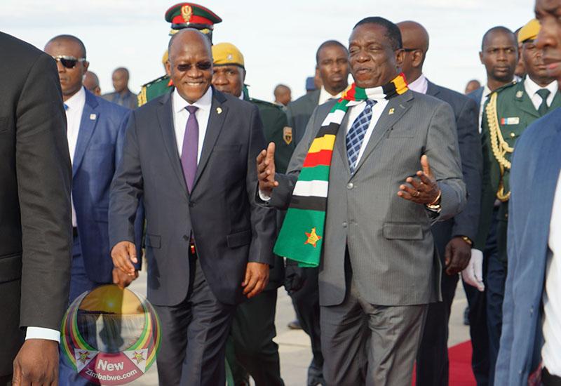 Images: Magufuli praises Mnangagwa for 'economic transformation'