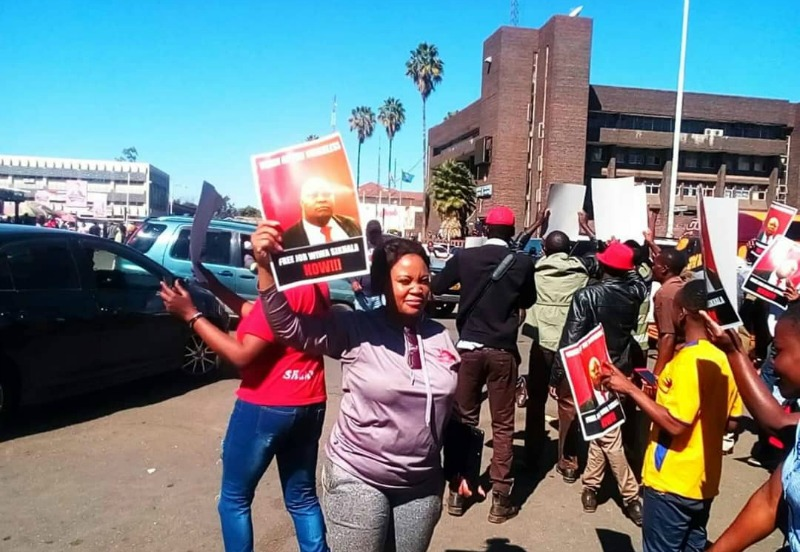 MDC youths stage protest against coup threatening Sikhala's arrest