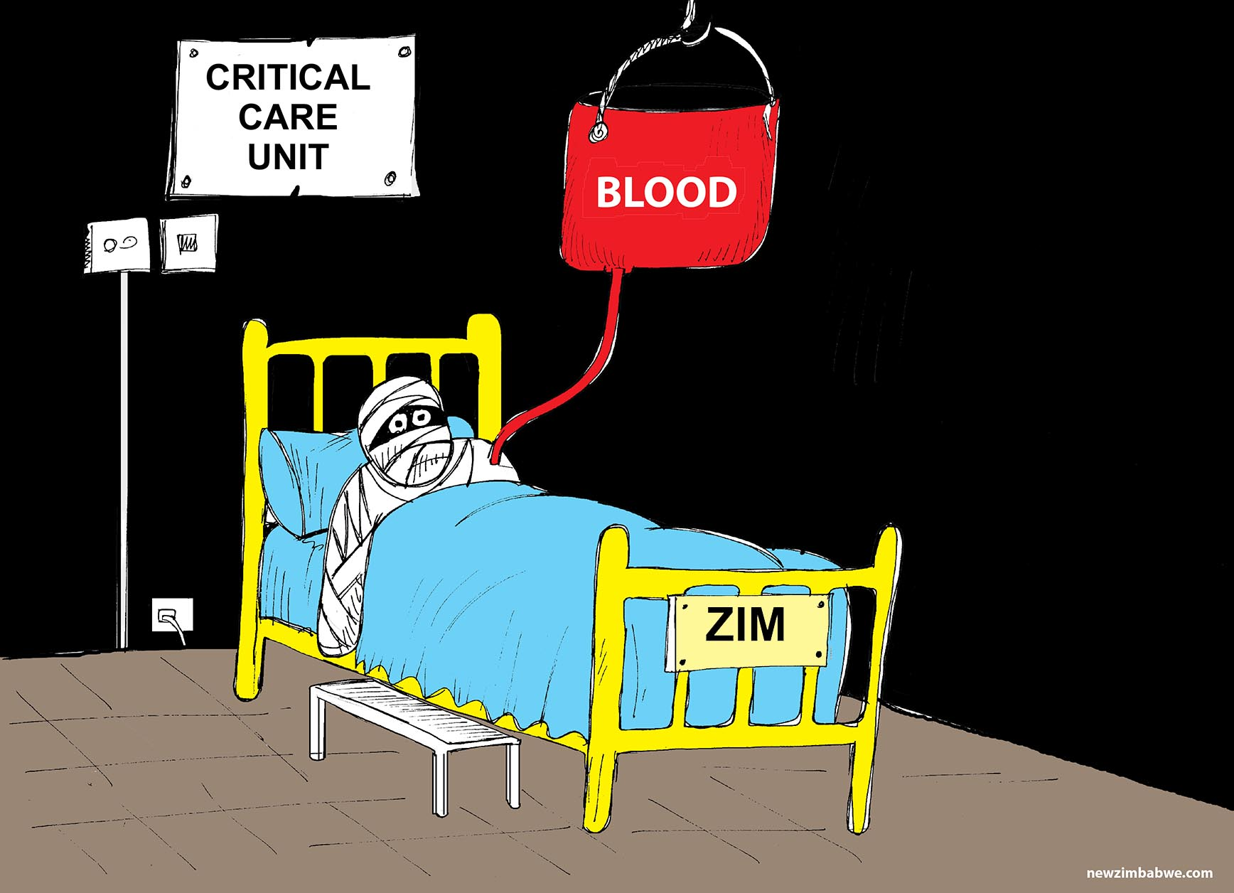 Zim in critical condition