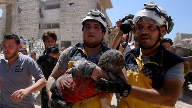 Syria war: 'World shrugs' as 103 civilians killed in 10 days