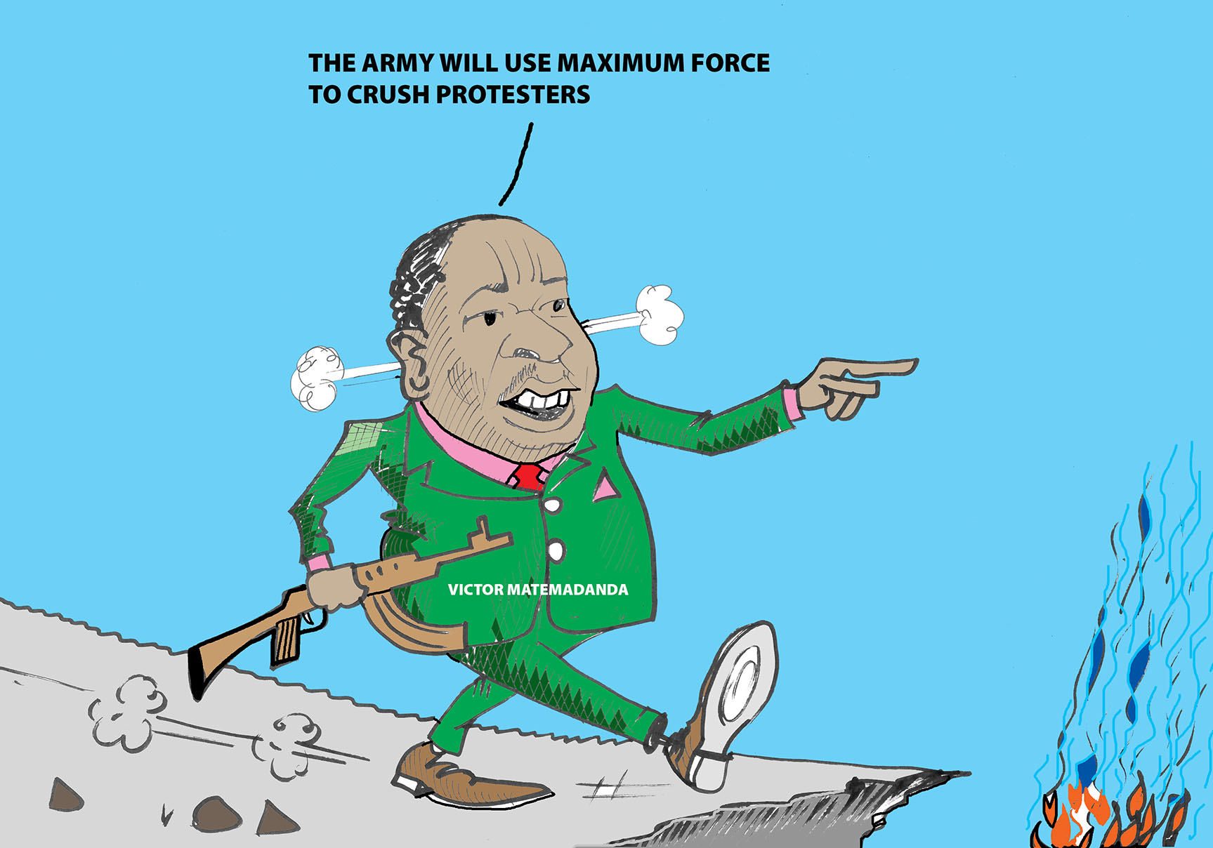 Army will crush the protesters