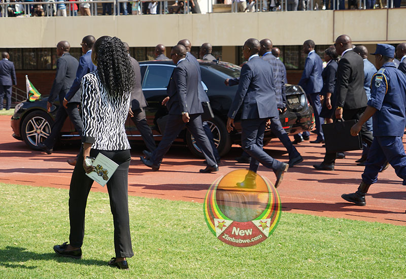 Mnangagwa hemmed in by heavy security
