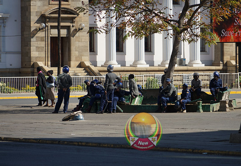 Images of Friday shutdown in Harare