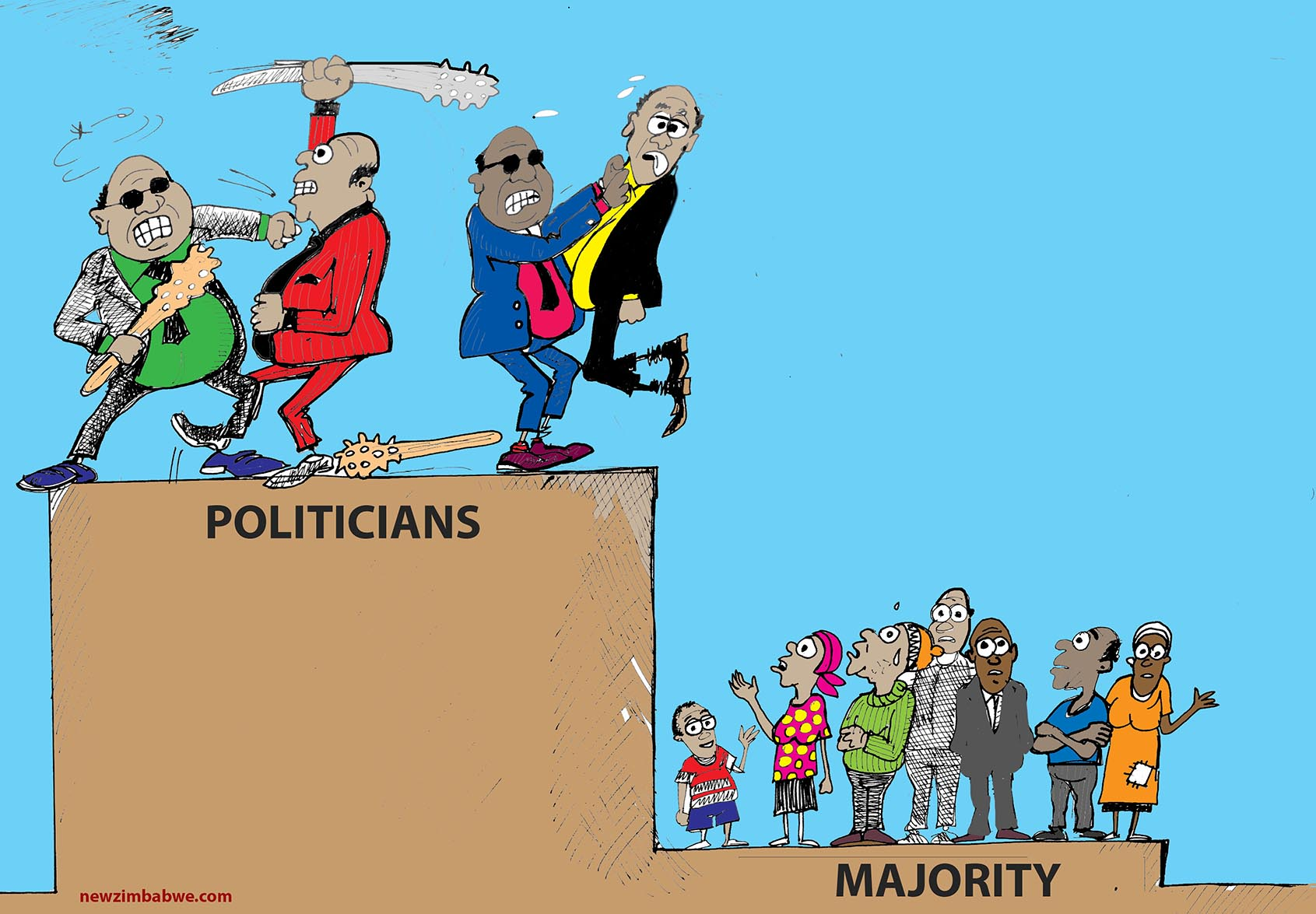 Zim politicians and majority
