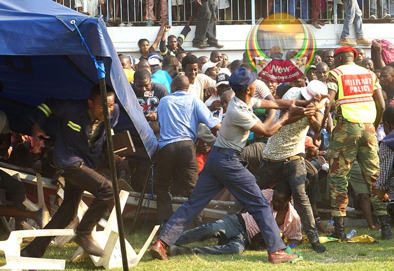 Ugly scenes mar Mugabe send-off rally at Rufaro Stadium