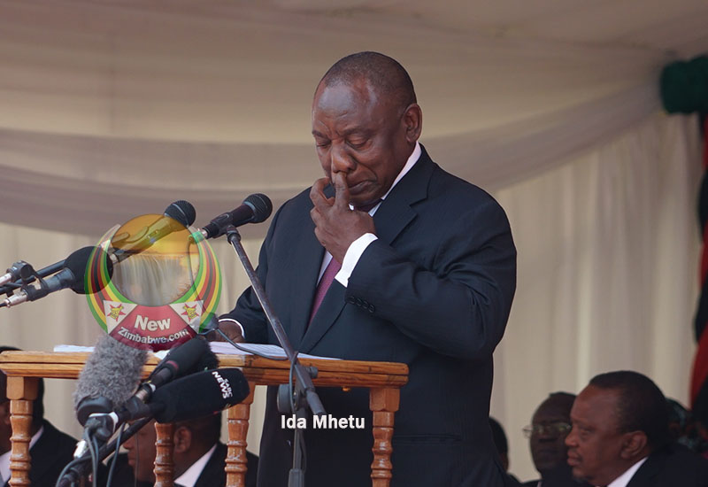 Ramaphosa revisits booing nightmare during Mugabe funeral