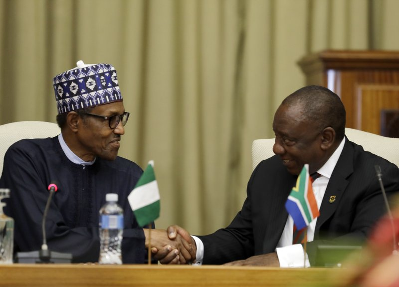 Nigeria's leader in South Africa after attacks on foreigners