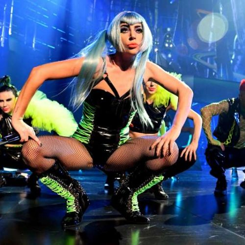 Lady Gaga, fan fall off stage during live performance