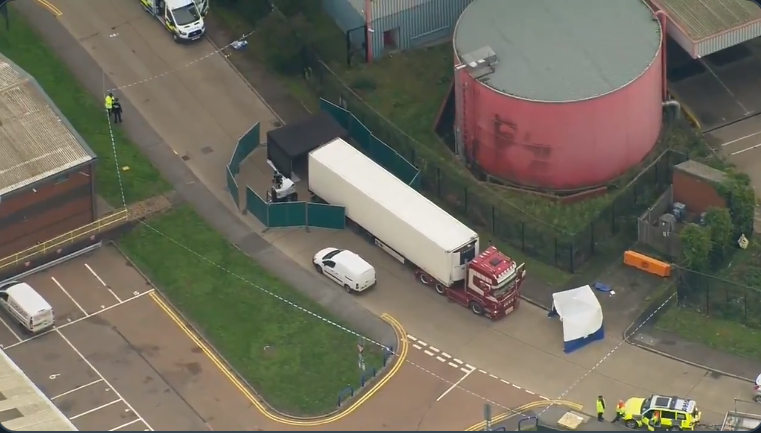 'This is a tragic incident' – UK police after 39 bodies found in truck container