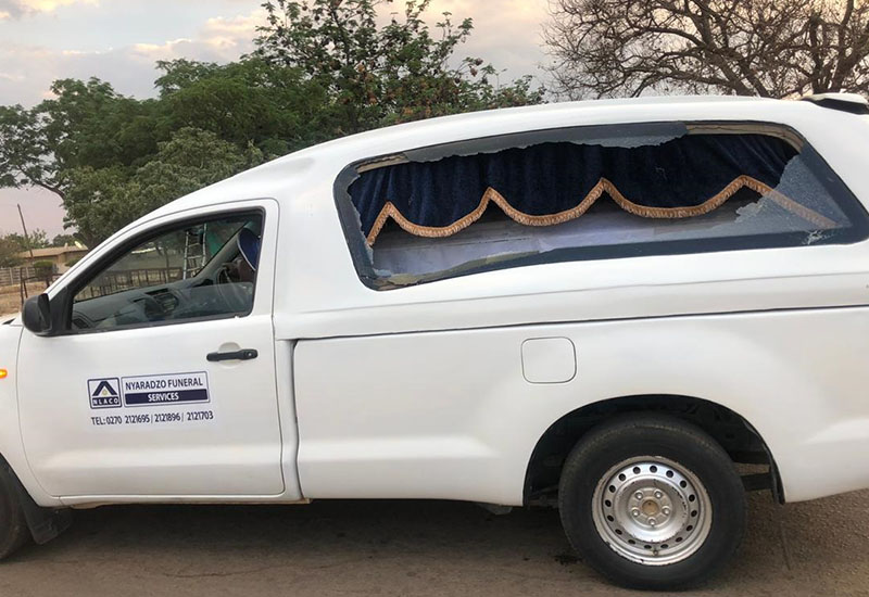 'Zanu PF youths' stone late police brutality victim's hearse