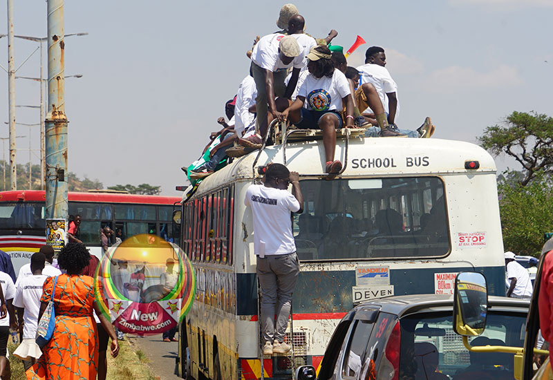 Zanu PF supporters left stranded by hired buses after attending Mnangagwa's Gutu clean-up
