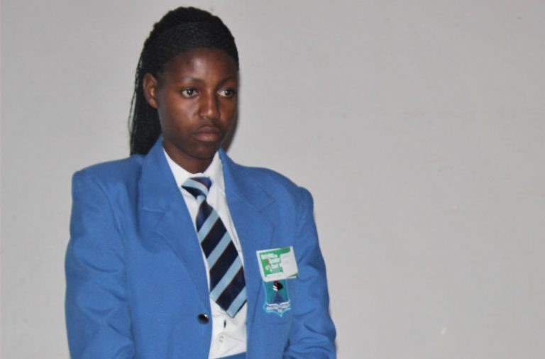 She fell pregnant during school, but has turned her case into an inspiring story