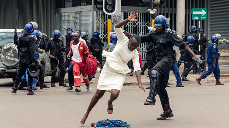 MDC MP confronts minister over police 'football tackles' on women protesters