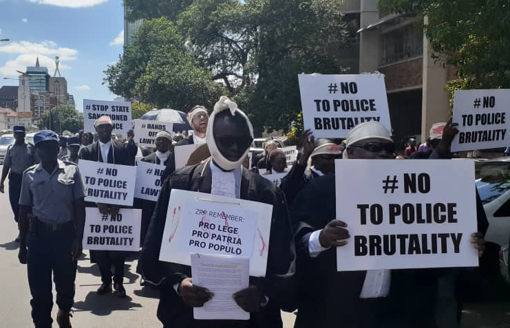 DEVELOPING STORY: Zim lawyers march to protest police brutality