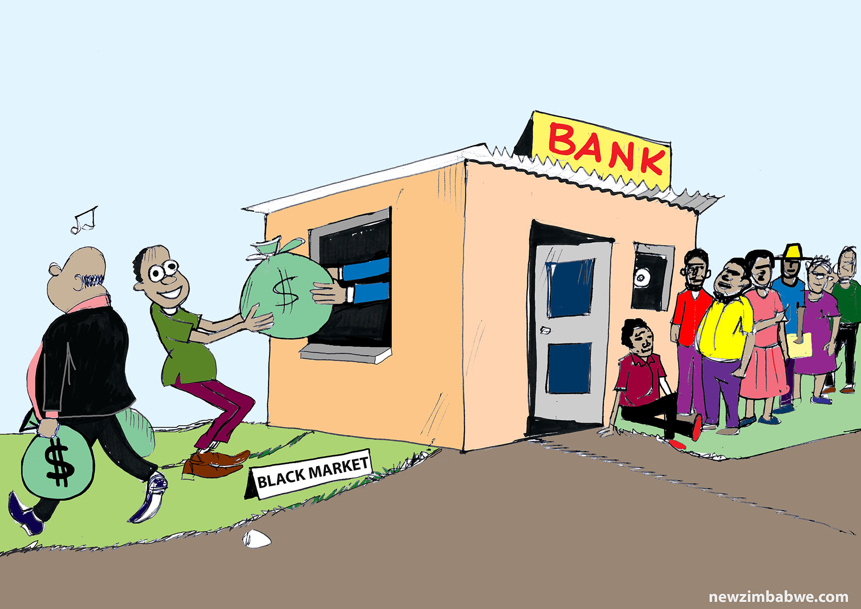 Of long bank queues and cash barons