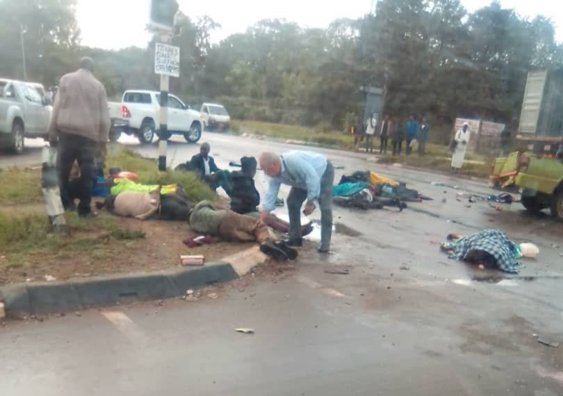 LATEST: 5 dead, 11 injured in Harare horror crash