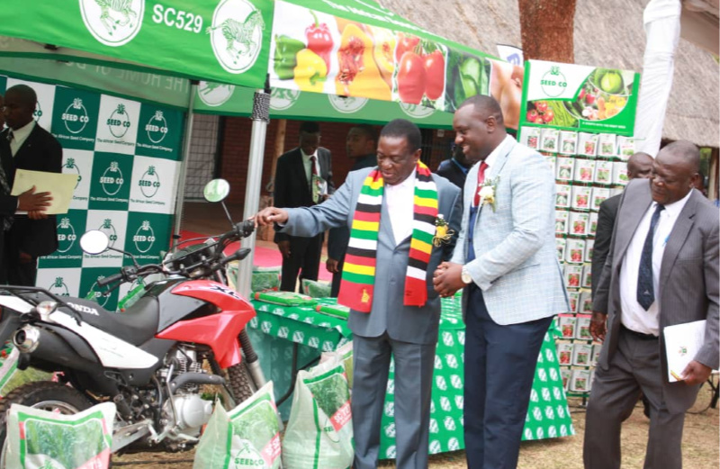 Successful young Zim farmer says inspired by President Mnangagwa