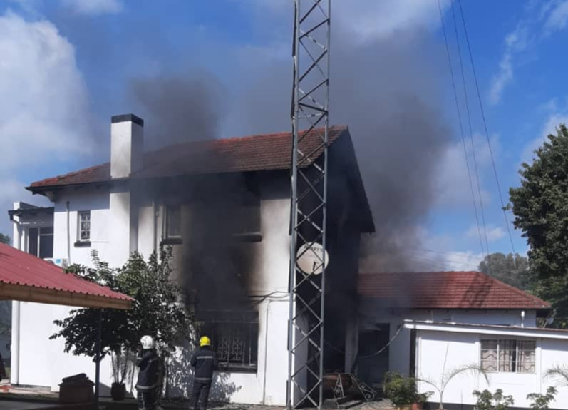 Indian embassy in Harare catches fire