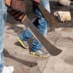 Seven member machete gang terrorises shop owners