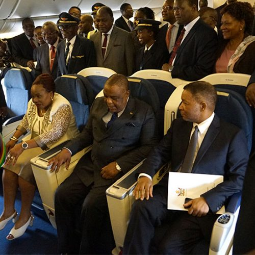 IN PICTURES:  Zimbabwe receives B777 Aircraft from Malaysia