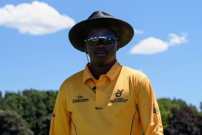 Zim cricket umpire Langton Rusere officiates in New Zealand-India series